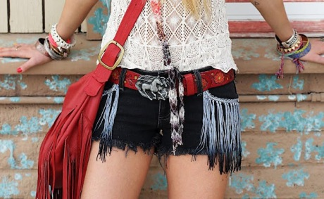 DIY fringe denim shorts A Matter Of style